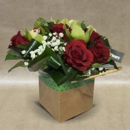 Bouquet Bulle Sophie Rouge - Place O Fleurs