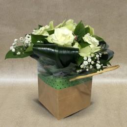 Bouquet Bulle Sophie Blanc - Place O Fleurs
