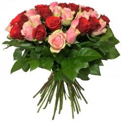 Bouquet de Roses Rouge & Rose - Place O Fleurs