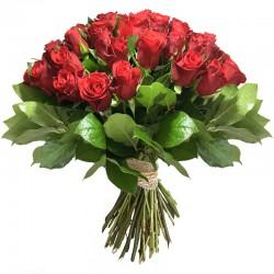Bouquet de Roses Rouge - Place O Fleurs
