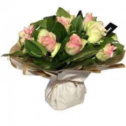 Bouquet Bulle de Roses Rose - Place O Fleurs
