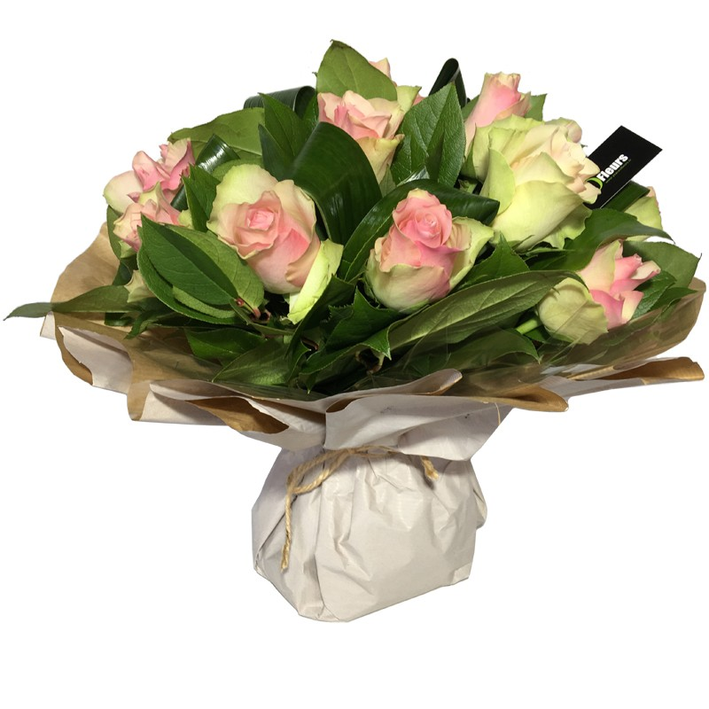 Bouquet Bulle de Roses Rose