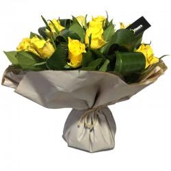 Bouquet Bulle de Roses Jaune - Place O Fleurs