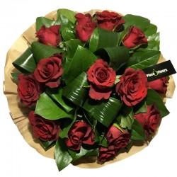 Bouquet Bulle de Roses Rouge - Place O Fleurs