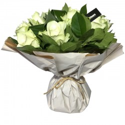 Bouquet Bulle de Roses Blanc - Place O Fleurs