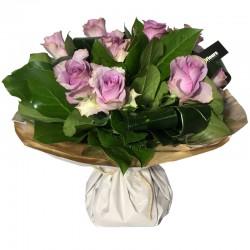 Bouquet Bulle de Roses Parme - Place O Fleurs